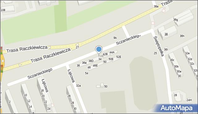 Toruń, Sczanieckiego Michała, 40E, mapa Torunia