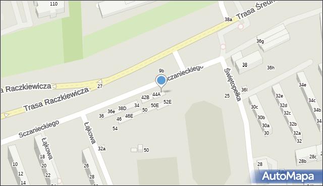 Toruń, Sczanieckiego Michała, 44D, mapa Torunia