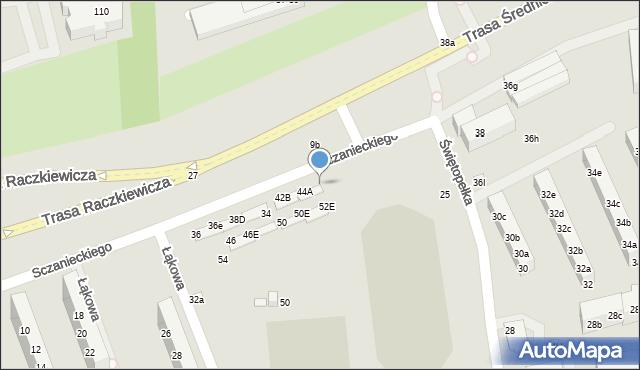 Toruń, Sczanieckiego Michała, 44E, mapa Torunia