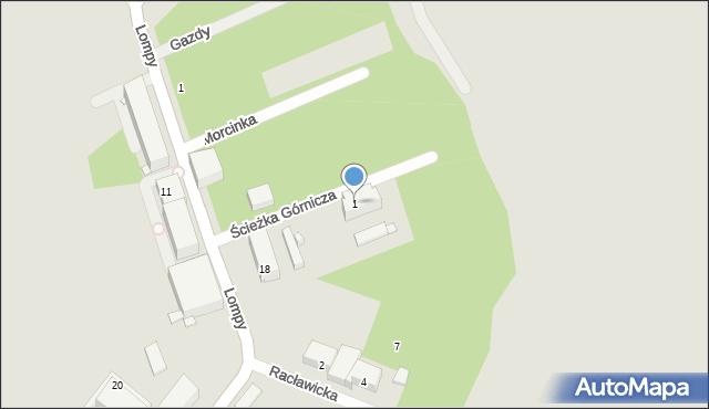 Zabrze, Ścieżka Górnicza, 1, mapa Zabrza