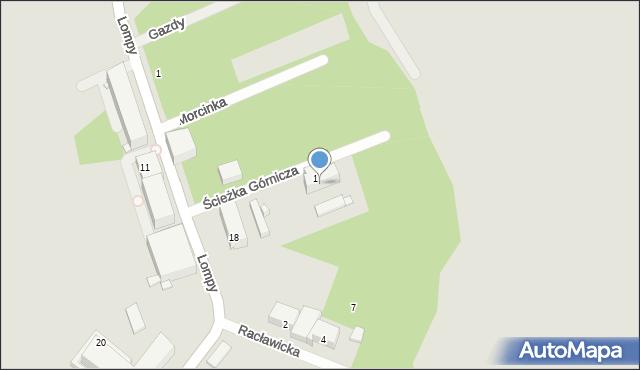Zabrze, Ścieżka Górnicza, 4, mapa Zabrza