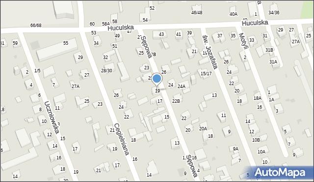 Częstochowa, Sępowa, 19, mapa Częstochowy
