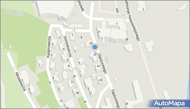 Gdynia, Sędzickiego Franciszka, 12, mapa Gdyni