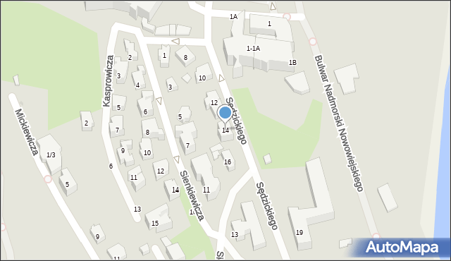Gdynia, Sędzickiego Franciszka, 14, mapa Gdyni