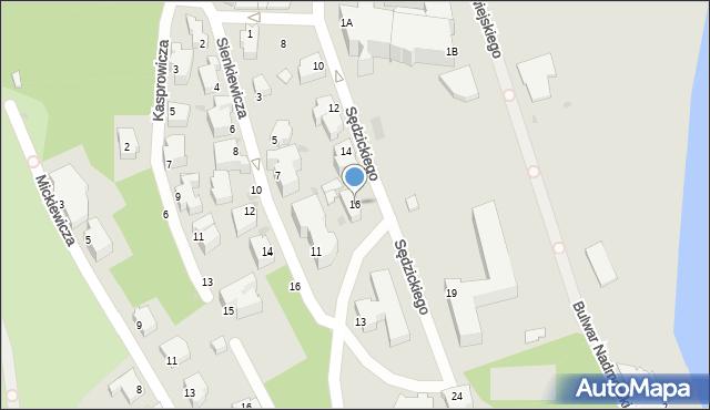 Gdynia, Sędzickiego Franciszka, 16, mapa Gdyni