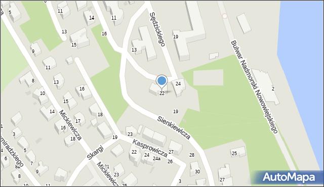 Gdynia, Sędzickiego Franciszka, 22, mapa Gdyni