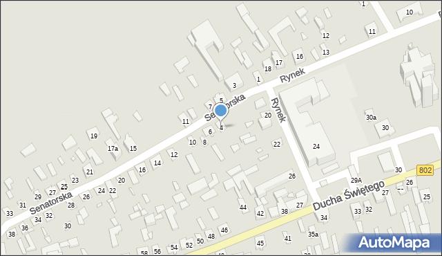 Latowicz, Senatorska, 4, mapa Latowicz