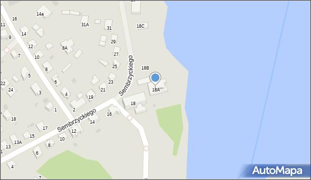 Olecko, Sembrzyckiego, 18A, mapa Olecko