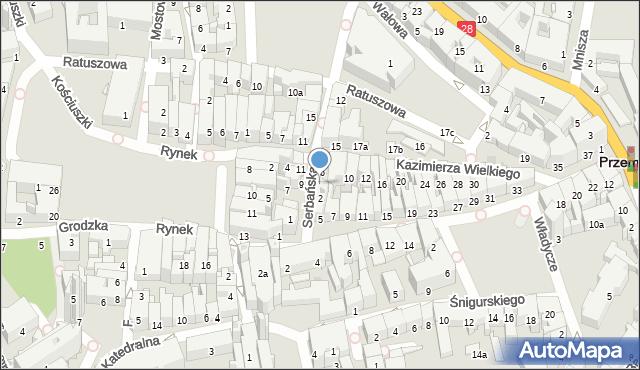 Przemyśl, Serbańska, 4, mapa Przemyśla