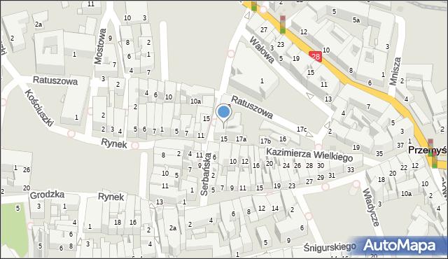 Przemyśl, Serbańska, 6, mapa Przemyśla