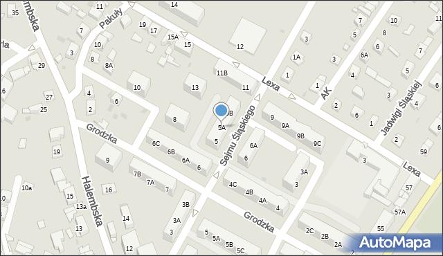 Ruda Śląska, Sejmu Śląskiego, 5A, mapa Rudy Śląskiej
