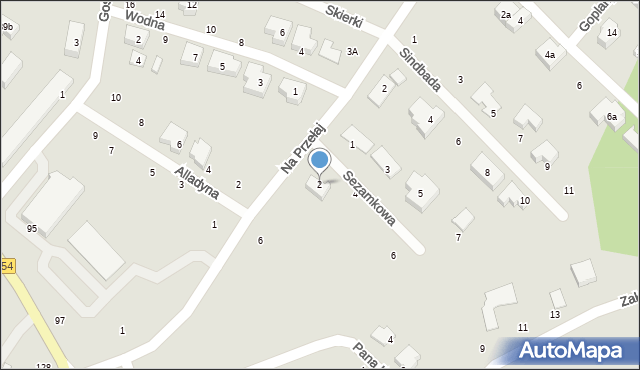 Toruń, Sezamkowa, 2, mapa Torunia