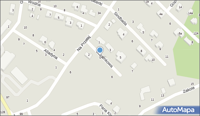 Toruń, Sezamkowa, 4, mapa Torunia