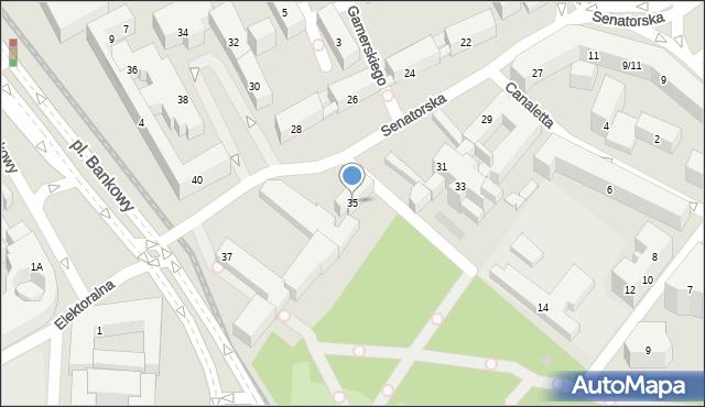 Warszawa, Senatorska, 35, mapa Warszawy