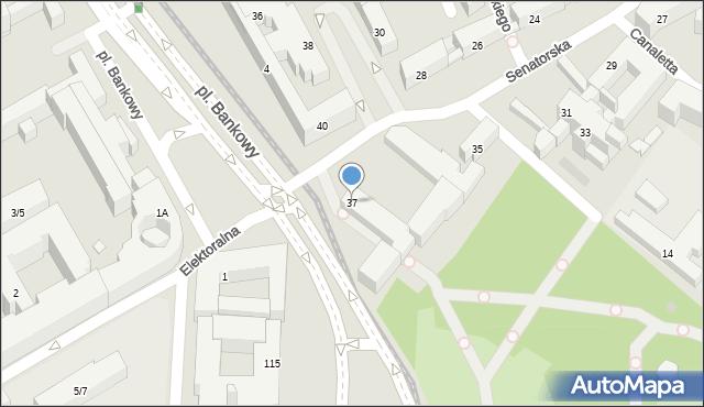 Warszawa, Senatorska, 37, mapa Warszawy