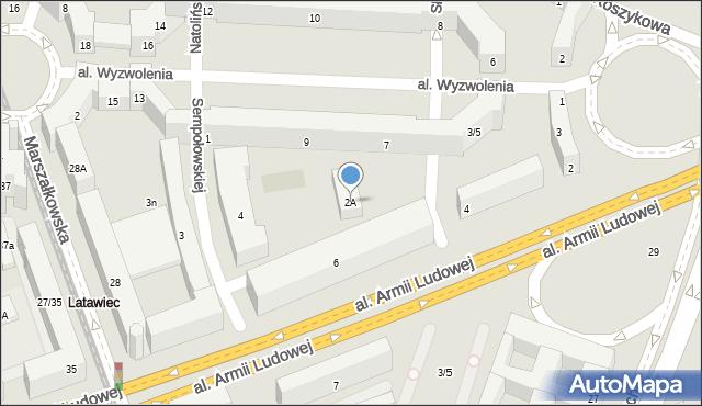 Warszawa, Sempołowskiej Stefanii, 2A, mapa Warszawy