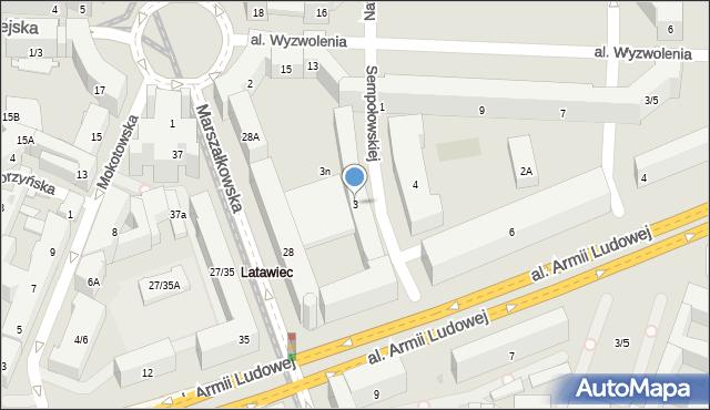 Warszawa, Sempołowskiej Stefanii, 3, mapa Warszawy