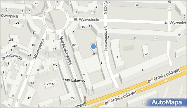 Warszawa, Sempołowskiej Stefanii, 3n, mapa Warszawy