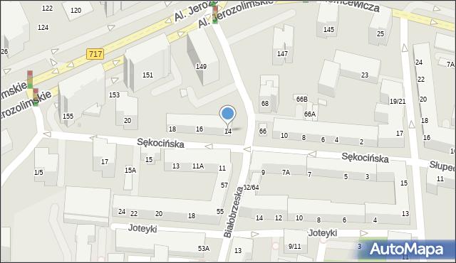 Warszawa, Sękocińska, 14, mapa Warszawy
