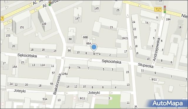 Warszawa, Sękocińska, 6, mapa Warszawy