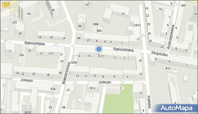 Warszawa, Sękocińska, 7, mapa Warszawy