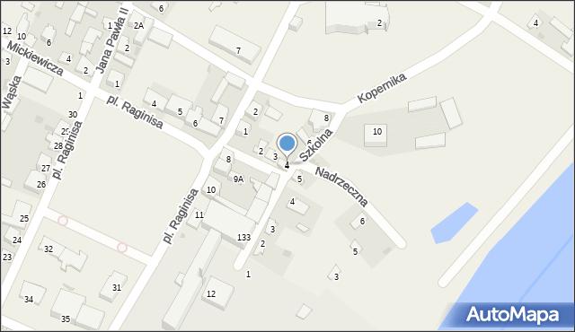 Wizna, Senatorska, 4, mapa Wizna