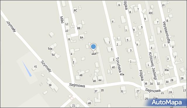 Zabrze, Sejmowa, 44A, mapa Zabrza
