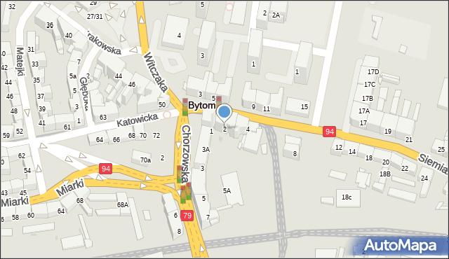 Bytom, Siemianowicka, 2, mapa Bytomia