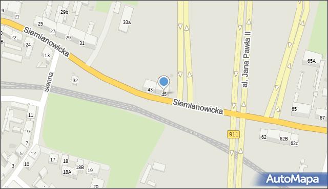 Bytom, Siemianowicka, 45, mapa Bytomia