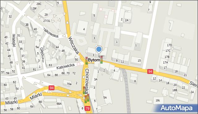 Bytom, Siemianowicka, 5, mapa Bytomia