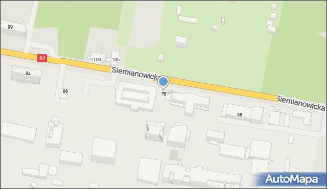 Bytom, Siemianowicka, 78, mapa Bytomia