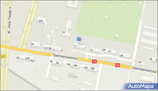Bytom, Siemianowicka, 79, mapa Bytomia