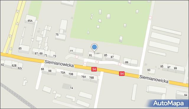 Bytom, Siemianowicka, 83, mapa Bytomia