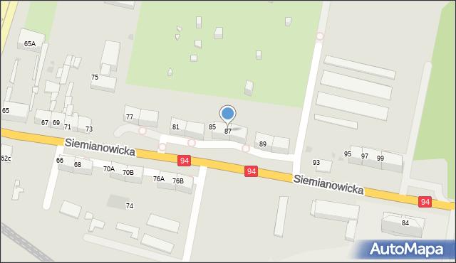 Bytom, Siemianowicka, 87, mapa Bytomia