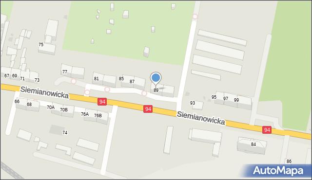 Bytom, Siemianowicka, 89, mapa Bytomia