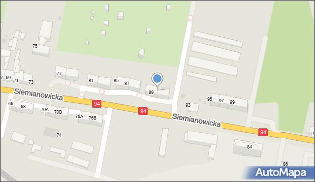Bytom, Siemianowicka, 91, mapa Bytomia