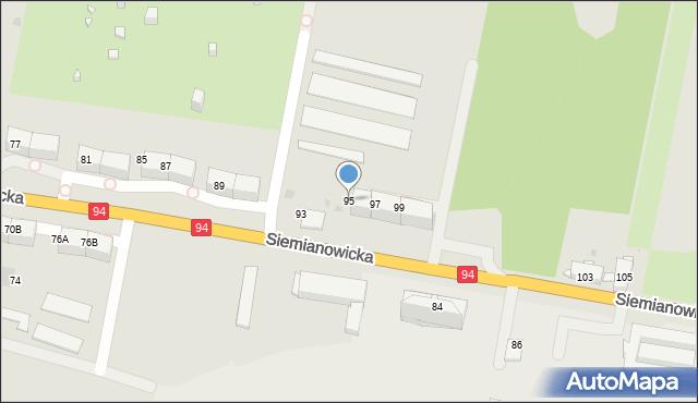 Bytom, Siemianowicka, 95, mapa Bytomia