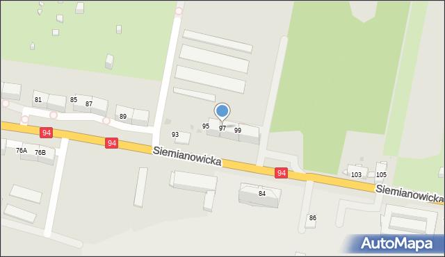 Bytom, Siemianowicka, 97, mapa Bytomia