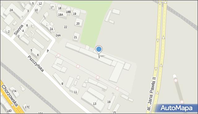 Bytom, Sienna, 1, mapa Bytomia