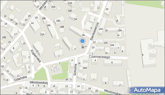 Chełm, Sienkiewicza Henryka, 3B, mapa Chełma