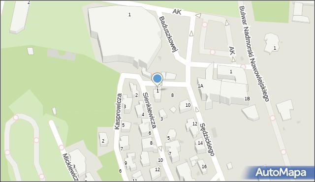 Gdynia, Sienkiewicza Henryka, 1, mapa Gdyni