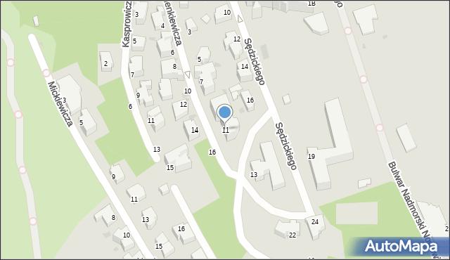 Gdynia, Sienkiewicza Henryka, 11e, mapa Gdyni