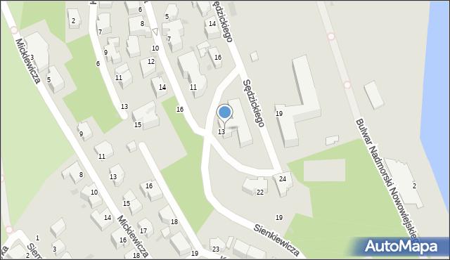 Gdynia, Sienkiewicza Henryka, 13, mapa Gdyni