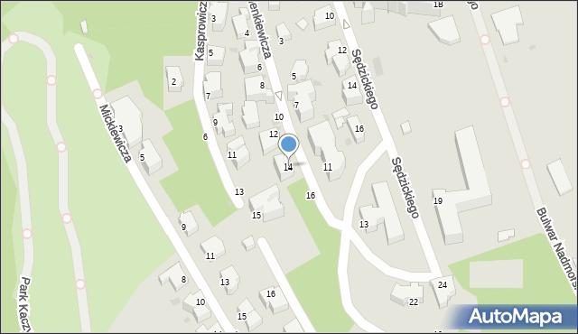 Gdynia, Sienkiewicza Henryka, 14, mapa Gdyni