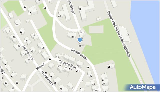 Gdynia, Sienkiewicza Henryka, 19, mapa Gdyni