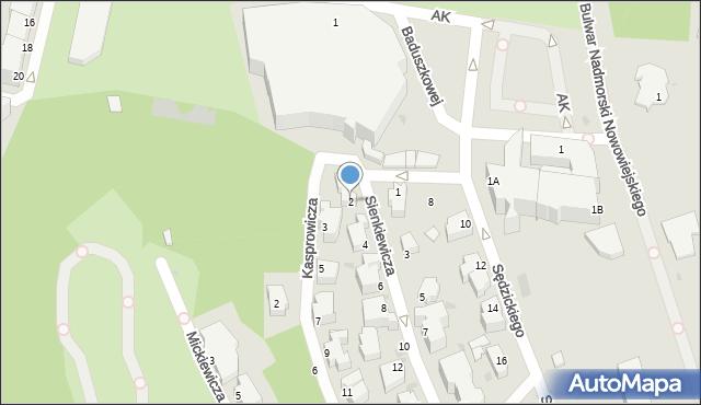 Gdynia, Sienkiewicza Henryka, 2, mapa Gdyni