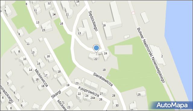 Gdynia, Sienkiewicza Henryka, 22, mapa Gdyni