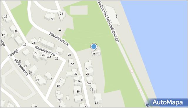 Gdynia, Sienkiewicza Henryka, 25, mapa Gdyni