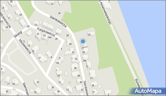 Gdynia, Sienkiewicza Henryka, 27, mapa Gdyni