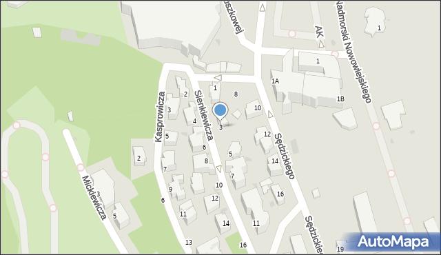 Gdynia, Sienkiewicza Henryka, 3, mapa Gdyni